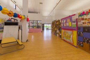 Empty interior of LBA Medical Center